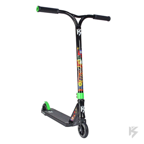 Kota Scooters Mania Complete Stunt Scooter, Black