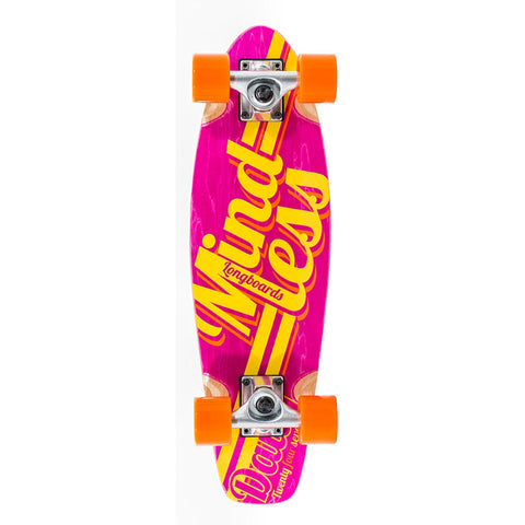 Mindless Longboard Stained Daily Cruiser - Orange/Pink