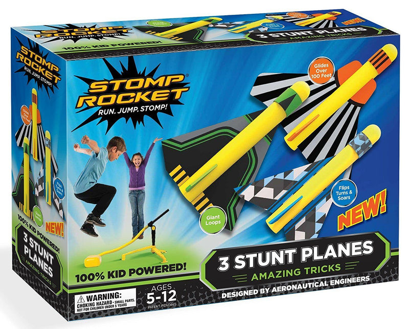 Stomp Rockets Soaring Flying Air Plane Kit Toys Stomp