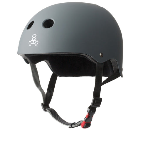 Triple 8 Certified Sweatsaver Helmet - Rubber Carbon Grey