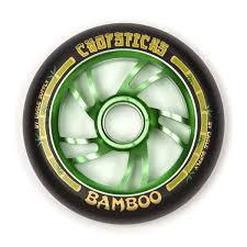 Chopsticks Bamboo Stunt Scooter Wheel Black/Green 110mm