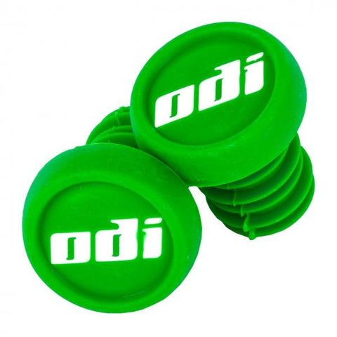 ODI Push In Bar Ends (2pcs), Green