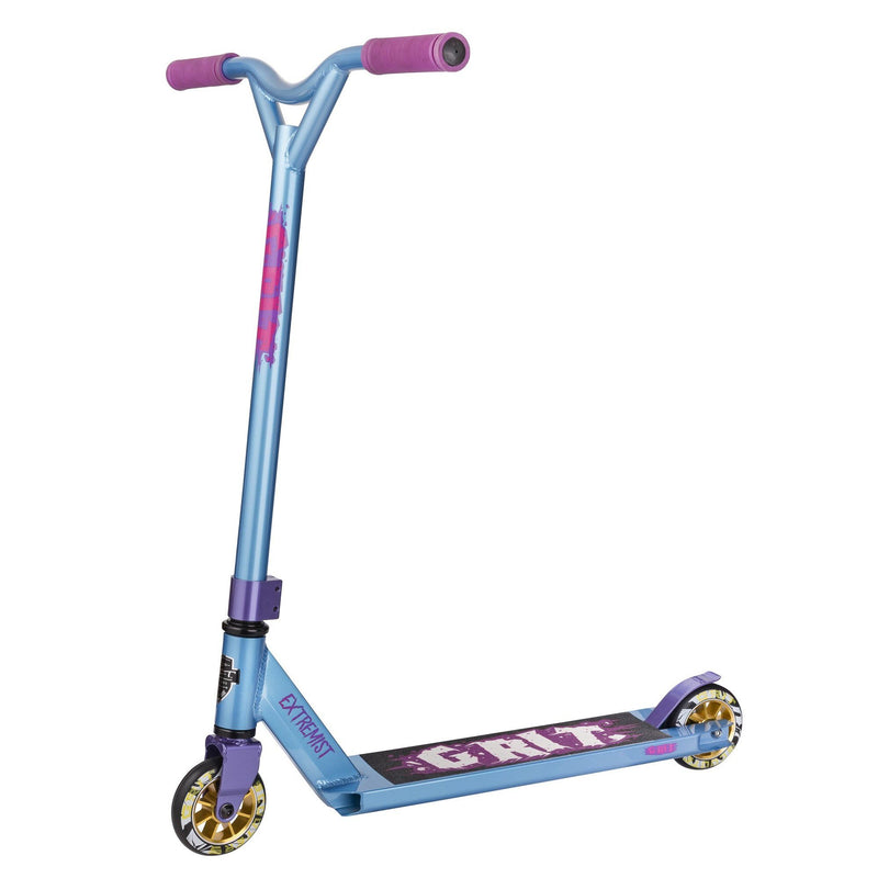 Grit Scooters 2018 Extremist Complete Stunt Scooter, Iced Blue Stunt Scooter Grit