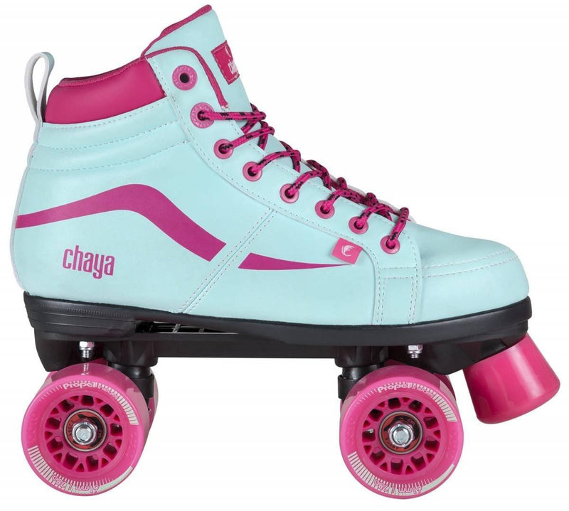 Chaya Skates Vintage Junior Turquoise Skates UK3, EX DISPLAY WITH BOX Quad Roller Skates Chaya