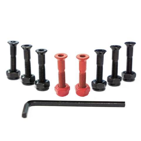 "CORE Skateboarding Truck Mounting Hardware Bolts 1"" - Red"