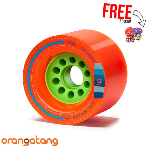 "Orangutang ""KEGEL"" 80mm 80a Longboard Wheels, Orange (x4)"