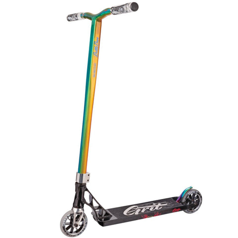 Grit Scooters Invader Complete Stunt Scooter, Black/TriChrome