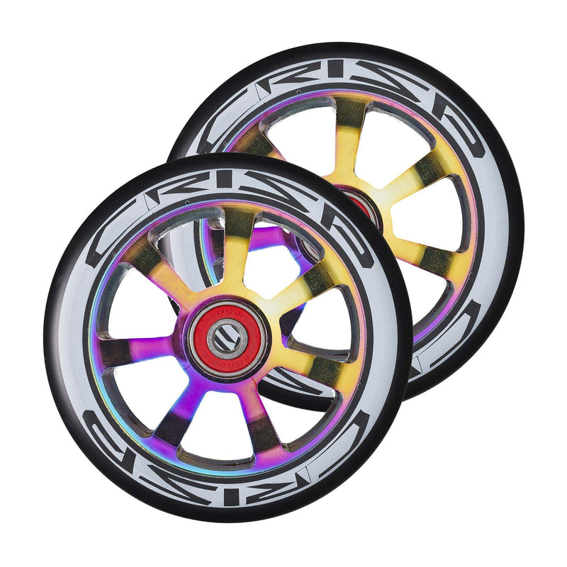 Crisp Scooters Hollowtech 110mm Stunt Scooter Wheels, Black/Oil Slick Stunt Scooter Crisp