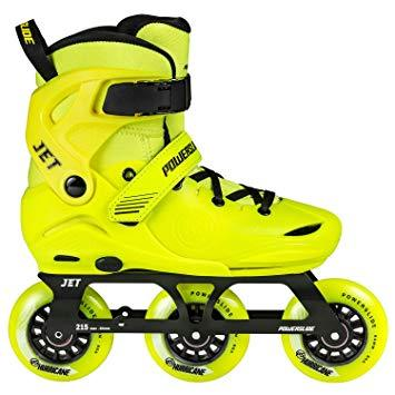 Powerslide Skates Jet 3 Wheel Toddler Skates UKJ6-UKJ8, Yellow EX DISPLAY WITH BOX
