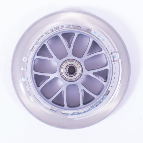 Micro Scooters 120mm Scooter Wheel, Clear/Grey