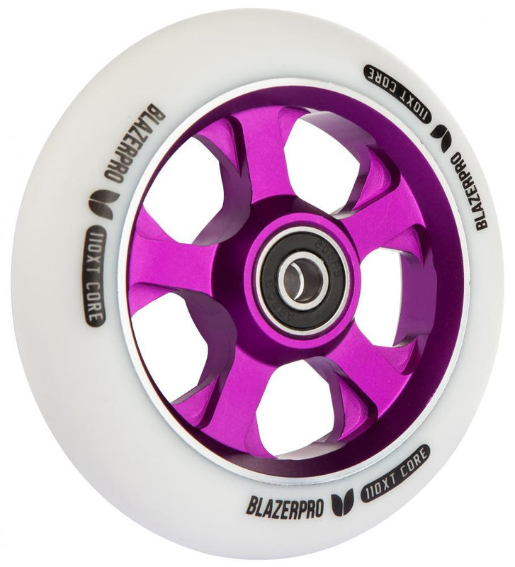 Blazer Pro XT Scooter Wheel 110mm, White/Purple Stunt Scooter Blazer Pro
