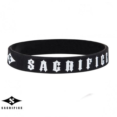 Sacrifice Rubber Wristband, Black
