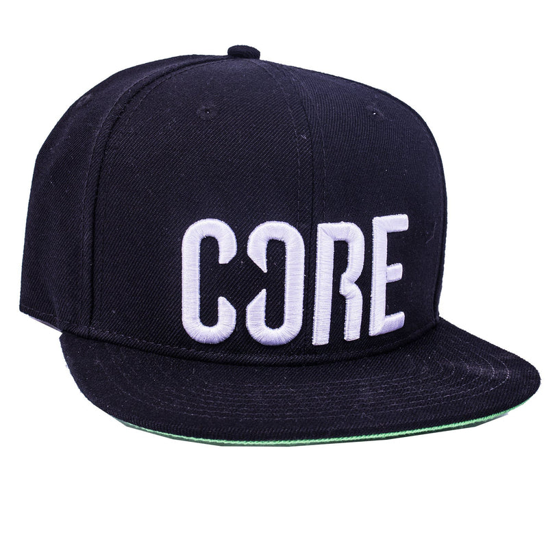 CORE Snapback Cap, Black Clothing CORE