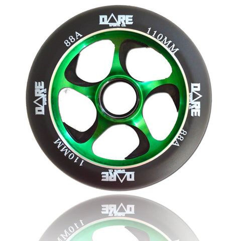 Dare Sports Swift Scooter Wheel 110mm, Black/Green