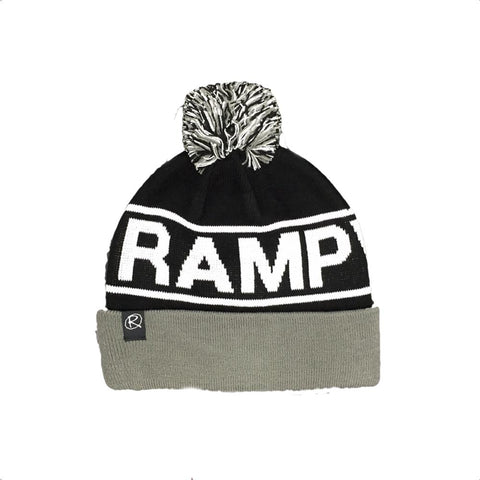 Rampworx Skatepark Bobble Hat, Grey/Black