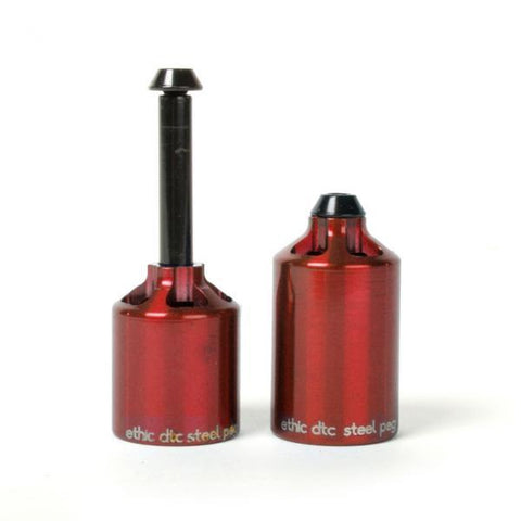 Ethic DTC Steel Stunt Scooter Pegs, Red