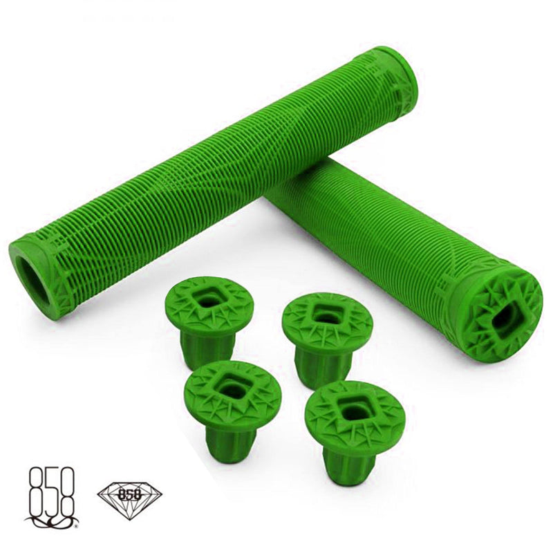 Ride 858 Scooters Diamond Stunt Scooter Grips, Green Grips Ride 858