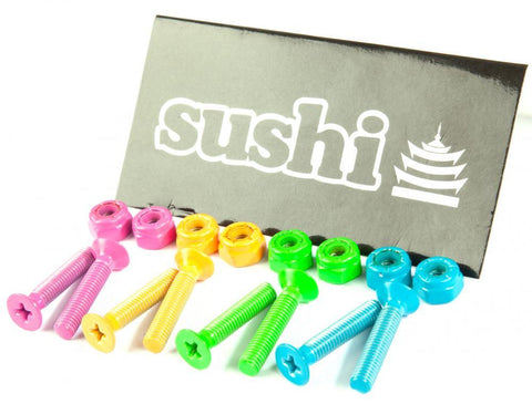 "Sushi Skateboards 1"" Phillips Hardware, Multi Colours"
