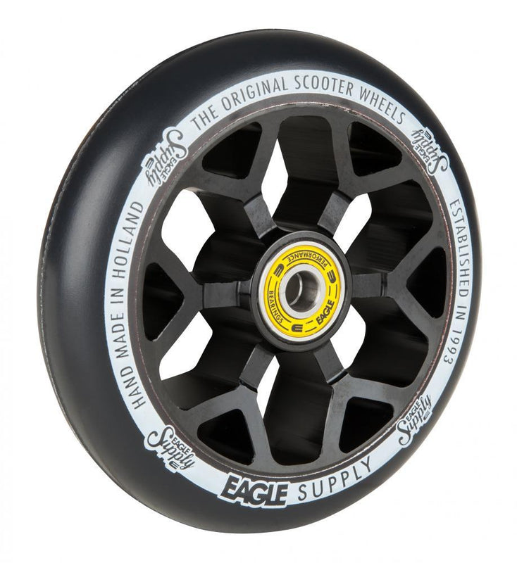 Eagle Supply 110mm Pro Stunt Scooter Wheel, Standard 6m Core - Black/Black Stunt Scooter Eagle Supply Co