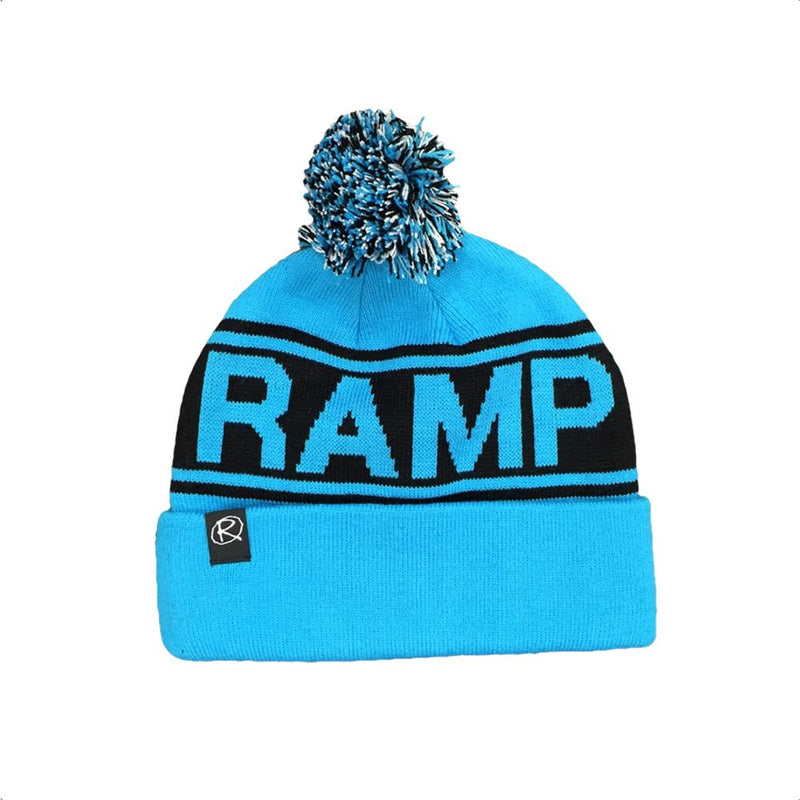 Rampworx Skatepark Bobble Hat, Blue/Black Clothing Rampworx