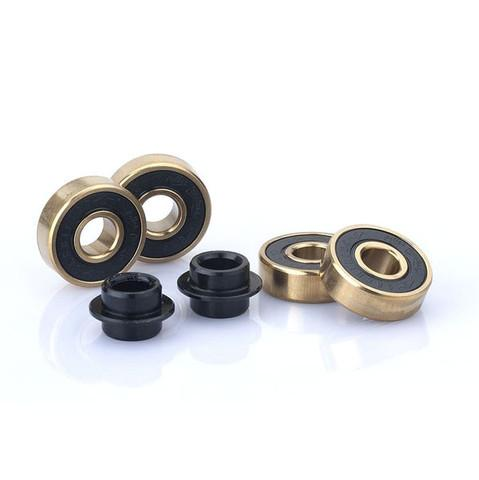 Sacrifice Roller Coaster Abec 9 Scooter Bearings, Gold/Black