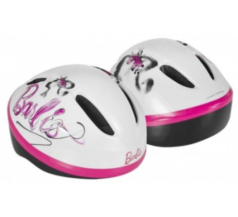 Barbie Fashion Girls Bike Helmet Pink/White