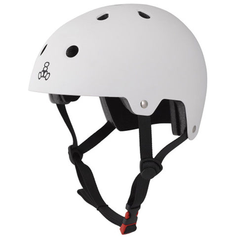 Triple 8 Protection EPS Brainsaver Skate/BMX Helmet, White