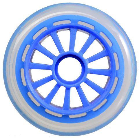 Yak Scooters Low Profile Spoked 100MM Scooter Wheel Blue