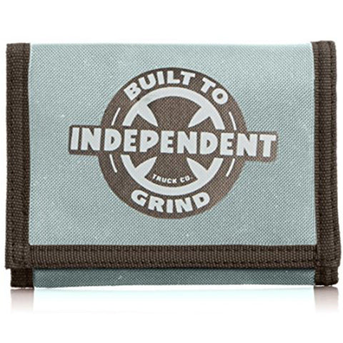 Independent Trucks Skateboard Velcro Wallet, Charcoal