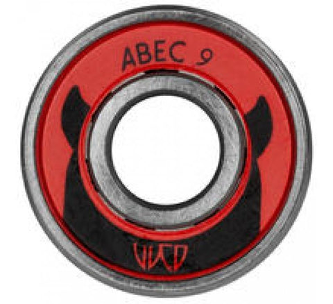 Wicked Bearings, ABEC 9 608, 8-Pack - Inline/Skate/Scooter