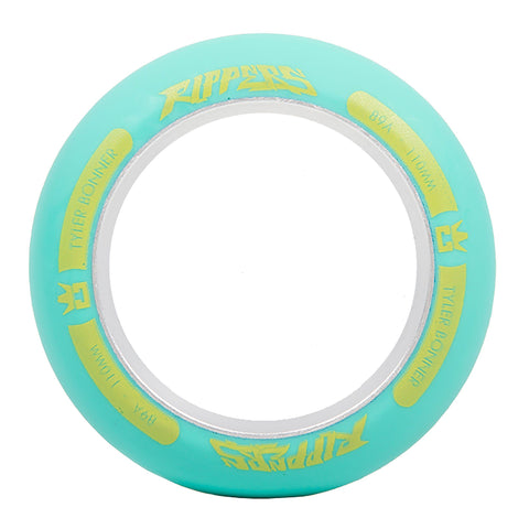 ROGUE Ultrex TBone Ripper Scooter Wheel Ring (Single) - Aqua/Yellow