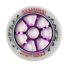 Chopstick Sushi Roll Stunt Scooter Wheel White/Purple 110mm
