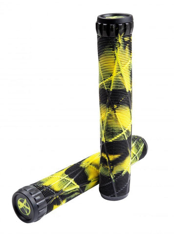 Addict Scooters OG Stunt Scooter Grips Eagle Collab, Black/Yellow