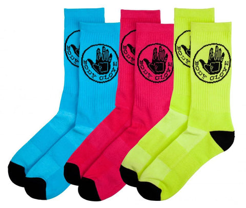 Body Glove Socks Neon Core Logo Sock (3 Pack)