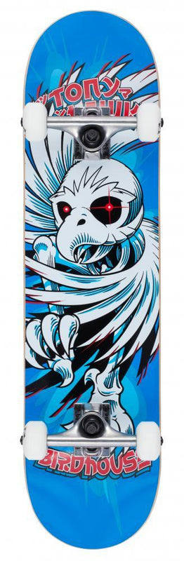 "Birdhouse Skateboards Stage 1 Complete Skateboard 7.75"" Hawk Spiral Blue Complete Skateboards Birdhouse"