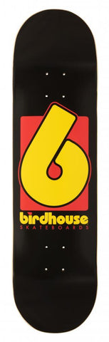 "Birdhouse Skateboards B Logo Skateboard Deck 8.25"", Black"