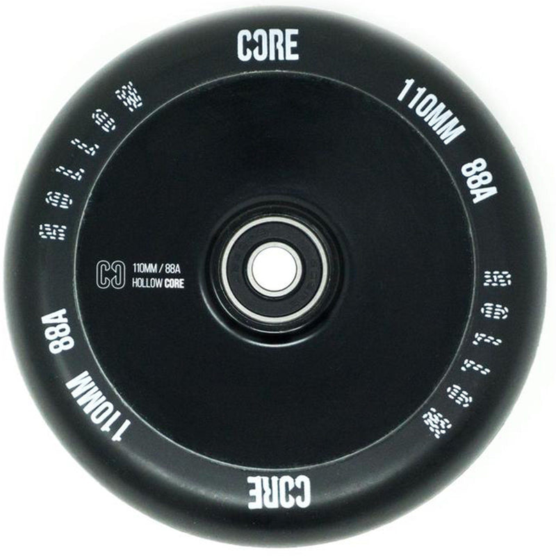 CORE Hollow Stunt Scooter Wheel V2 110mm - Black Scooter Wheels CORE