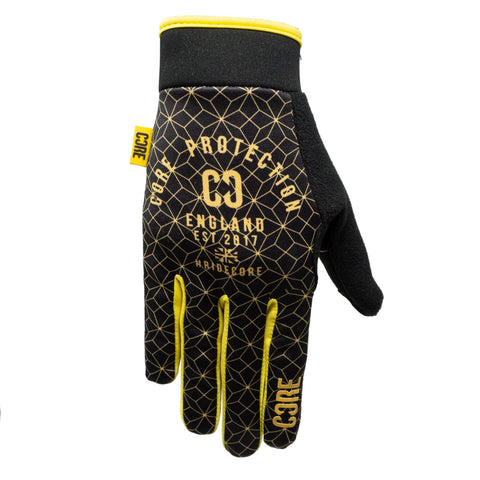 CORE Protection Gloves SR – Black/Gold Geo