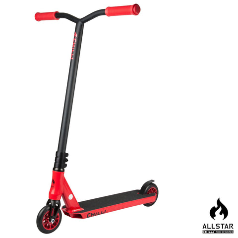 Chilli Pro Scooters All Star Reaper Complete Stunt Scooter - Fire/Black