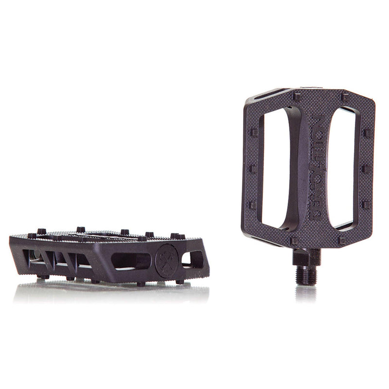 "Demolition Bikes Trooper Plastic Pedals 9/16"" BMX Demolition Black"
