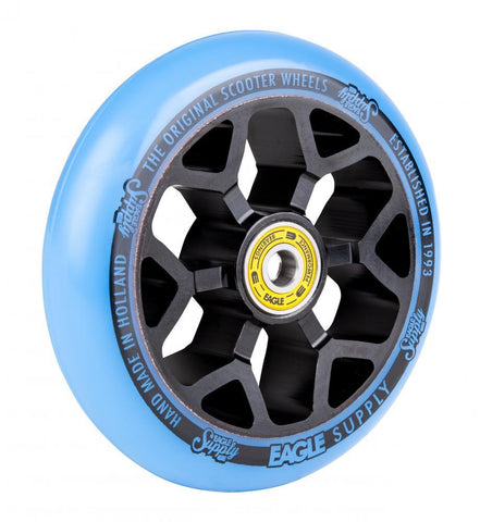 Eagle Supply 110mm Pro Stunt Scooter Wheel, Standard 6m Core - Black/Blue