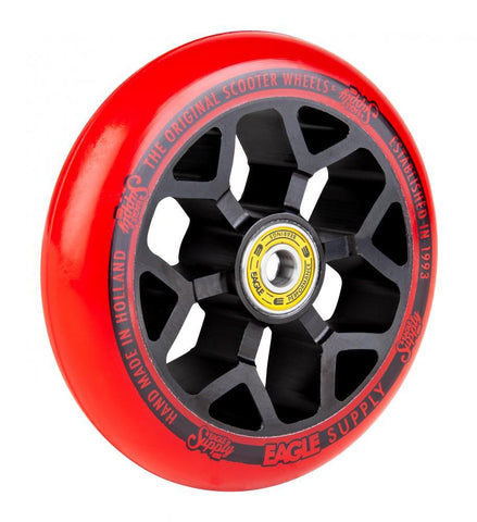 Eagle Supply 110mm Pro Stunt Scooter Wheel, Standard 6m Core - Black/Red