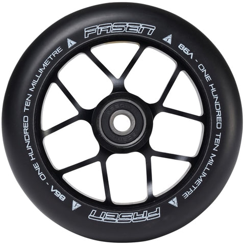 Fasen Scooters Jet Stunt Scooter Wheel 110mm, Black/Black