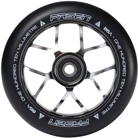 Fasen Scooters Jet Stunt Scooter Wheel 110mm, Black/Chrome