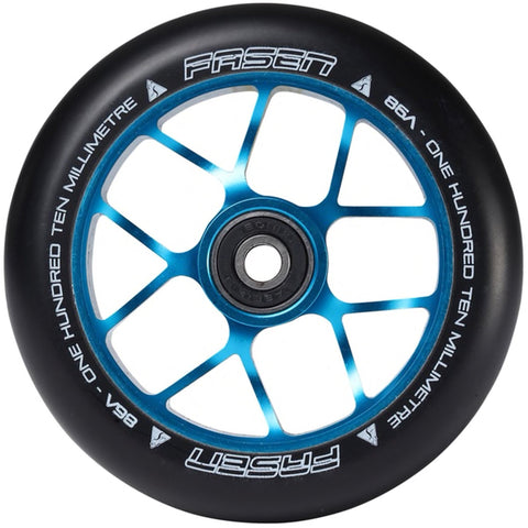 Fasen Scooters Jet Stunt Scooter Wheel 110mm, Black/Teal