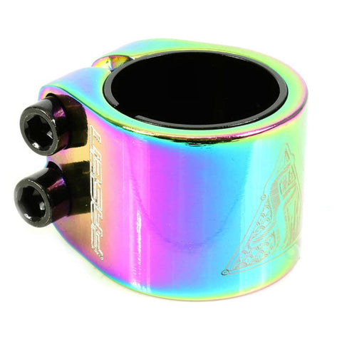 Fasen Scooters 2 Bolt Double Clamp, Oil Slick