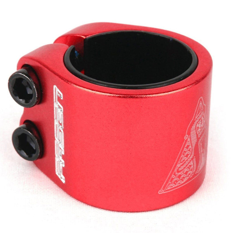 Fasen Scooters 2 Bolt Double Clamp, Red Stunt Scooter Fasen