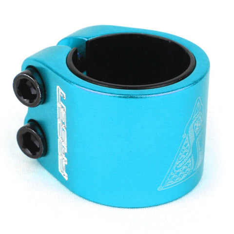 Fasen Scooters 2 Bolt Double Clamp, Teal