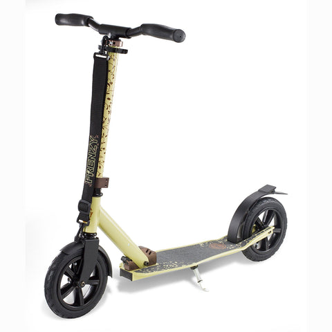 Frenzy Scooters 205mm Pneumatic Folding Scooter, Cream