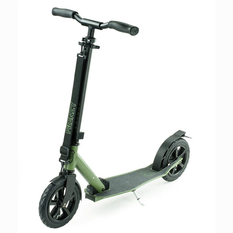 Frenzy Scooters 205mm Pneumatic Folding Scooter, Military Green Stunt Scooter Frenzy Scooters